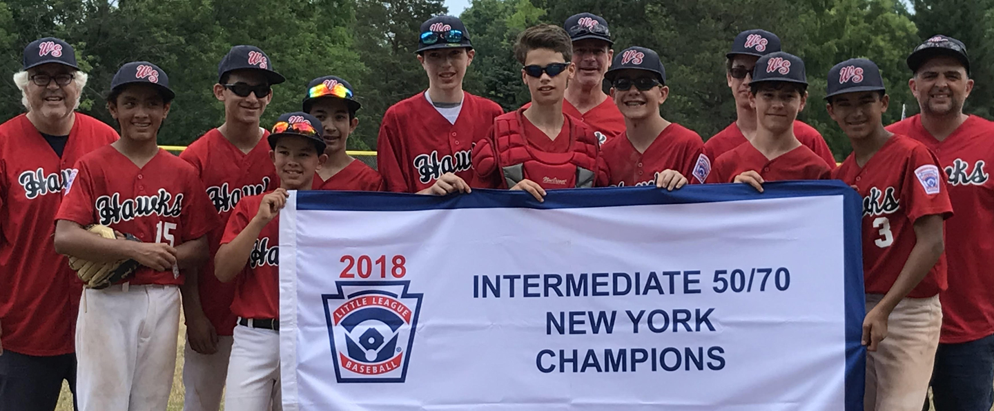 West Side Little League's 13u Hawks Tournament team WON THE Intermediate 50/70 NEW YORK STATE CHAMPIONSHIP!