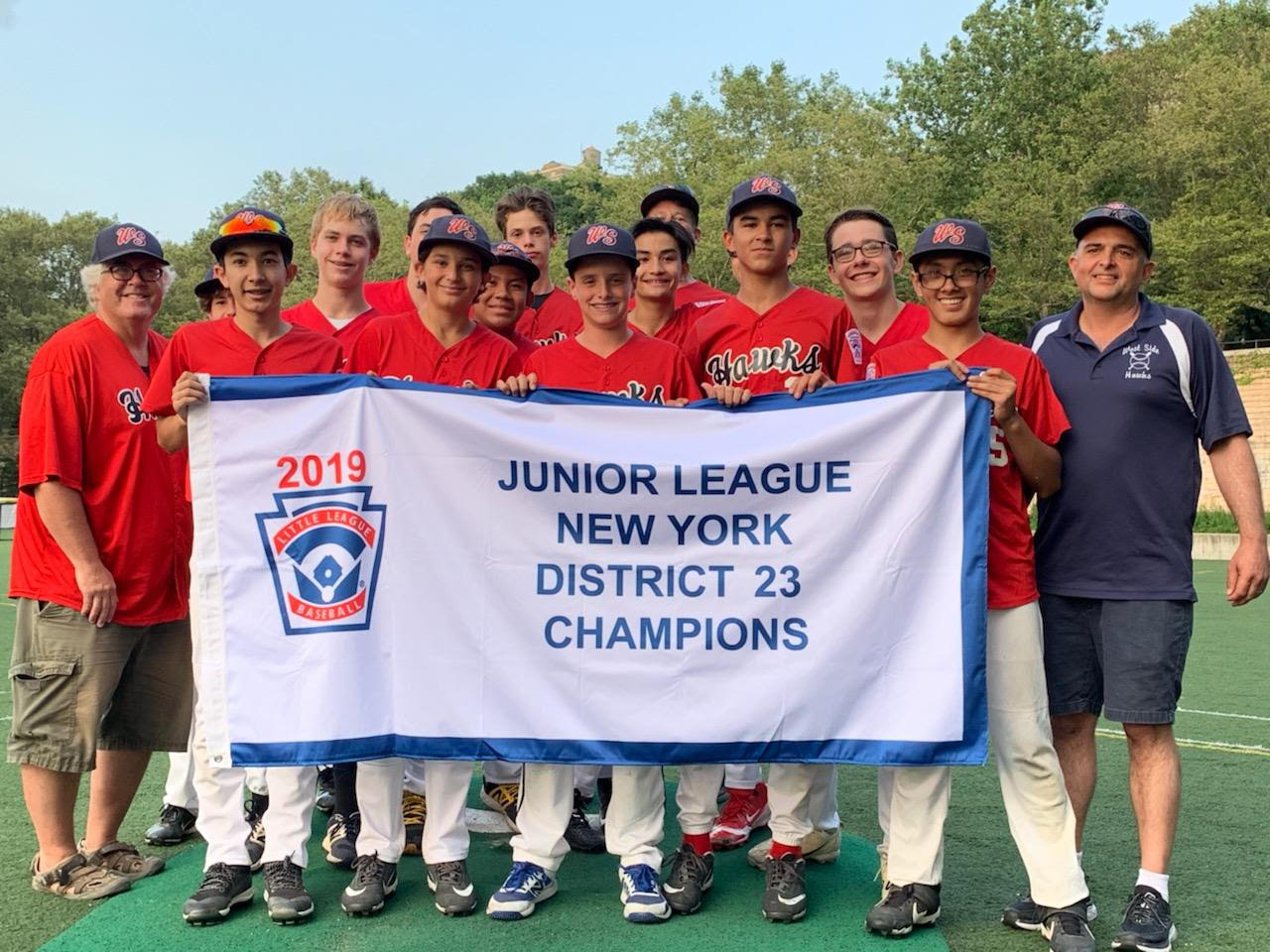 West Side's Juniors Baseball Tournament Team Wins District 23 Championship!