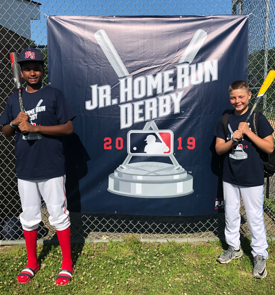 West Side Little League's own Matty Herlick and Omar Dominguez competed in the Regional MLB Jr. Home Run competition