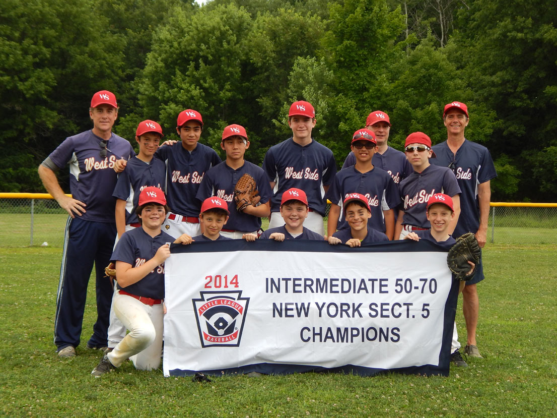 WEST SIDE'S 50/70 TEAM - 2014 NY SECTION 5 CHAMPIONS!